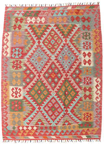 Kilim Afghan Old Style Rug 133X175 Authentic  Oriental Handwoven Rust Red/Light Brown (Wool, Afghanistan)