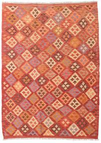 Kelim Afghan Old Style Matta 127X176 Äkta Orientalisk Handvävd Orange/Roströd (Ull, Afghanistan)