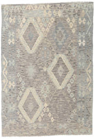 Kilim Afghan Old Style Rug 125X180 Authentic  Oriental Handwoven Light Grey/Light Brown (Wool, Afghanistan)