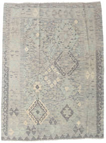 Kilim Afghan Old Style Rug 123X166 Authentic  Oriental Handwoven Light Grey (Wool, Afghanistan)