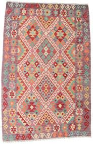 Kelim Afghan Old Style Matto 120X182 Itämainen Käsinkudottu Tummanbeige/Vaaleanvioletti (Villa, Afganistan)