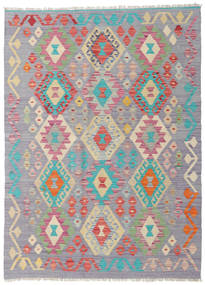 Kilim Afghan Old Style Rug 123X169 Authentic  Oriental Handwoven Light Grey/Light Pink (Wool, Afghanistan)