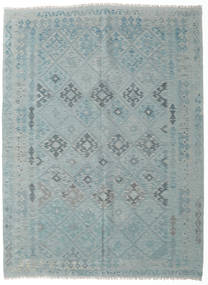 Kilim Afghan Old Style Rug 181X242 Authentic  Oriental Handwoven Light Blue/Light Grey (Wool, Afghanistan)