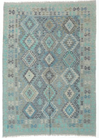 Kilim Afghan Old Style Rug 174X244 Authentic Oriental Handwoven Light Grey/Pastel Green (Wool, Afghanistan)