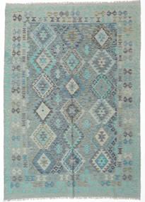 Kelim Afghan Old Style Matto 174X244 Itämainen Käsinkudottu Vaaleanharmaa/Pastellinvihreä (Villa, Afganistan)