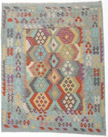 Kelim Afghan Old Style Matto 192X239 Itämainen Käsinkudottu Vaaleanharmaa/Vaaleanruskea (Villa, Afganistan)