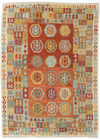 Kelim Afghan Old Style Matto 186X255 Itämainen Käsinkudottu Vaaleanruskea/Oranssi (Villa, Afganistan)