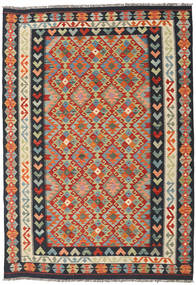 Kilim Afghan Old Style Rug 174X249 Authentic  Oriental Handwoven Dark Grey/Turquoise Blue (Wool, Afghanistan)