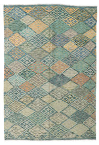 Kilim Afghan Old Style Tapis 169X247 D'orient Tissé À La Main Gris Clair/Vert Pastel (Laine, Afghanistan)