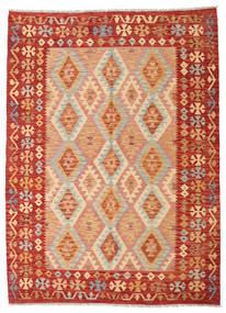 Kelim Afghan Old Style Matto 176X242 Itämainen Käsinkudottu Vaaleanruskea/Oranssi (Villa, Afganistan)
