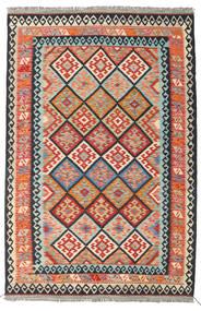 Kilim Afghan Old Style Tapis 166X253 D'orient Tissé À La Main Gris Foncé/Orange (Laine, Afghanistan)