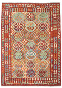 Kilim Afghan Old Style Rug 173X240 Authentic  Oriental Handwoven Dark Red/Brown (Wool, Afghanistan)