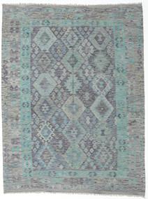 Kelim Afghan Old Style Matto 181X238 Itämainen Käsinkudottu Vaaleanharmaa/Tummanharmaa (Villa, Afganistan)