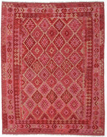 Kilim Afghan Old Style Rug 189X240 Authentic Oriental Handwoven Crimson Red/Rust Red (Wool, Afghanistan)