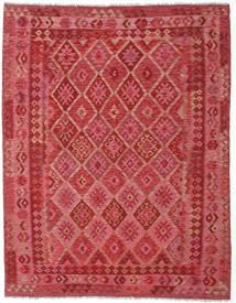 Kelim Afghan Old Style Matto 189X240 Itämainen Käsinkudottu Punainen/Ruoste (Villa, Afganistan)