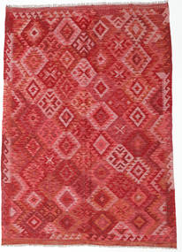 Kilim Afghan Old Style Rug 173X244 Authentic  Oriental Handwoven Dark Red/Rust Red (Wool, Afghanistan)