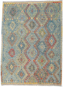 Kilim Afghan Old Style Rug 180X250 Authentic  Oriental Handwoven Light Grey/Light Brown (Wool, Afghanistan)