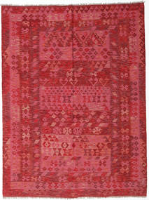 Kilim Afghan Old Style Rug 178X240 Authentic  Oriental Handwoven Rust Red/Crimson Red (Wool, Afghanistan)