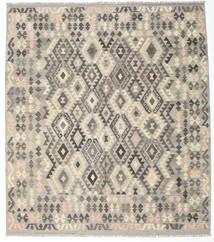 Kelim Afghan Old Style Matta 211X238 Äkta Orientalisk Handvävd Ljusgrå/Ljusbrun (Ull, Afghanistan)