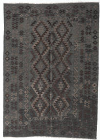 Kilim Afghan Old Style Rug 175X243 Authentic  Oriental Handwoven Dark Grey (Wool, Afghanistan)