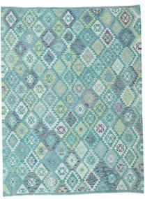 Kelim Afghan Old Style Teppe 217X287 Ekte Orientalsk Håndvevd Lys Blå/Turkis Blå (Ull, Afghanistan)