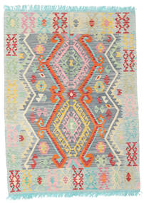 Kilim Afghan Old Style Rug 130X175 Authentic  Oriental Handwoven Pastel Green/Light Grey (Wool, Afghanistan)