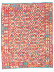Kelim Afghan Old Style Matto 157X195 Itämainen Käsinkudottu Tummanbeige/Ruoste (Villa, Afganistan)