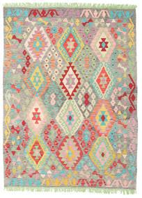 Kelim Afghan Old Style Tæppe 151X201 Ægte Orientalsk Håndvævet Mørk Beige/Lysegrå (Uld, Afghanistan)