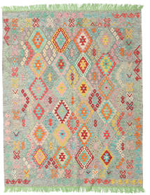 Kilim Afghan Old Style Rug 165X207 Authentic  Oriental Handwoven Light Grey/White/Creme (Wool, Afghanistan)