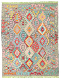Kilim Afegão Old Style Tapete 155X195 Oriental Tecidos À Mão Cinzento Claro/Bege Escuro (Lã, Afeganistão)