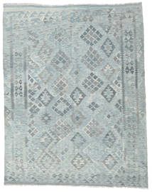 Kilim Afghan Old Style Rug 182X228 Authentic Oriental Handwoven Light Grey/Light Blue (Wool, Afghanistan)