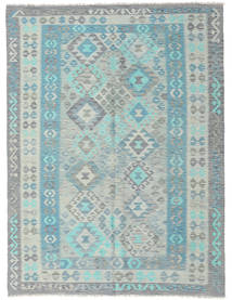 Kilim Afghan Old Style Rug 183X243 Authentic  Oriental Handwoven Light Grey/Light Blue (Wool, Afghanistan)
