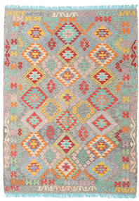 Kilim Afghan Old Style Rug 176X237 Authentic  Oriental Handwoven Light Grey/Light Pink (Wool, Afghanistan)