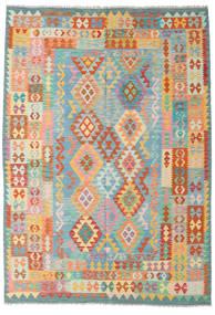 Kilim Afghan Old Style Rug 205X289 Authentic  Oriental Handwoven (Wool, Afghanistan)