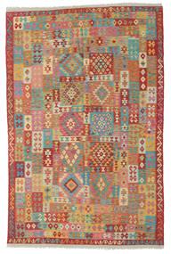キリム アフガン オールド スタイル 絨毯 195X307 オリエンタル 手織り 薄茶色/茶 (ウール, アフガニスタン)