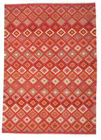 キリム アフガン オールド スタイル 絨毯 206X292 オリエンタル 手織り オレンジ/錆色 (ウール, アフガニスタン)