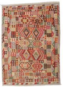 Килим Афган Старый Стиль Ковер 205X290 Сотканный Вручную Светло-Коричневый/Коричневый (Шерсть, Афганистан)