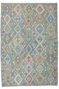 Kilim Afghan Old Style Rug 201X291 Authentic  Oriental Handwoven Dark Grey/Light Grey (Wool, Afghanistan)