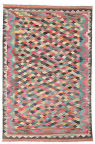 Килим Афган Старый Стиль Ковер 188X287 Сотканный Вручную Темно-Серый/Темно-Бежевый (Шерсть, Афганистан)