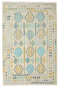 キリム アフガン オールド スタイル 絨毯 191X296 オリエンタル 手織り ベージュ/薄茶色 (ウール, アフガニスタン)