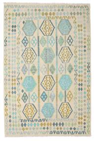 Kilim Afghan Old Style Alfombra 191X296 Oriental Tejida A Mano Beige/Marrón Claro (Lana, Afganistán)