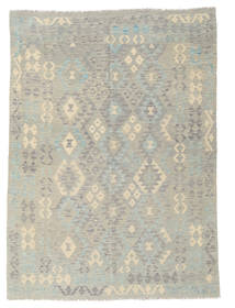 Kilim Afghan Old Style Rug 176X243 Authentic  Oriental Handwoven Light Grey (Wool, Afghanistan)