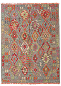 Kilim Afghan Old Style Rug 184X244 Authentic  Oriental Handwoven Rust Red/Light Brown (Wool, Afghanistan)