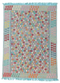 Kelim Afghan Old Style Vloerkleed 170X232 Echt Oosters Handgeweven Lichtgrijs/Blauw (Wol, Afghanistan)