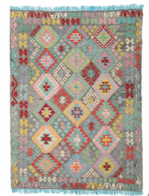 Kilim Afghan Old Style Rug 181X246 Authentic  Oriental Handwoven Dark Grey/Light Grey (Wool, Afghanistan)