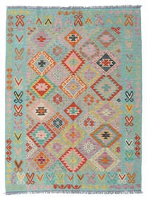 Kilim Afghan Old Style Rug 182X240 Authentic  Oriental Handwoven Light Grey/Pastel Green (Wool, Afghanistan)