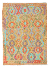Kilim Afghan Old Style Rug 124X175 Authentic  Oriental Handwoven Light Brown/Orange (Wool, Afghanistan)