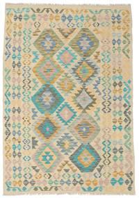 Kelim Afghan Old Style Matta 126X184 Äkta Orientalisk Handvävd (Ull, Afghanistan)