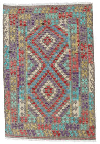 Kilim Afghan Old Style Rug 111X165 Authentic  Oriental Handwoven Dark Grey/Light Grey (Wool, Afghanistan)