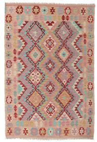 Kelim Afghan Old Style Teppich  125X188 Echter Orientalischer Handgewebter Hellbraun/Hellrosa (Wolle, Afghanistan)